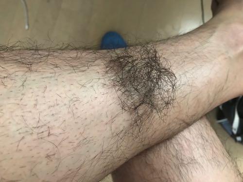 すね毛を剃った状態!!