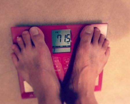 体重計×71.5キロ