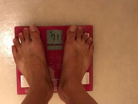 8月5日の体重