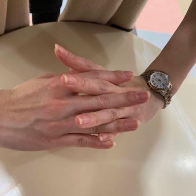 頭頂部マッサージ指の形