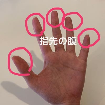手の指先の腹